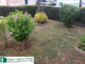 Avant: création de jardin